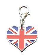 Heart Union Jack Silver charm