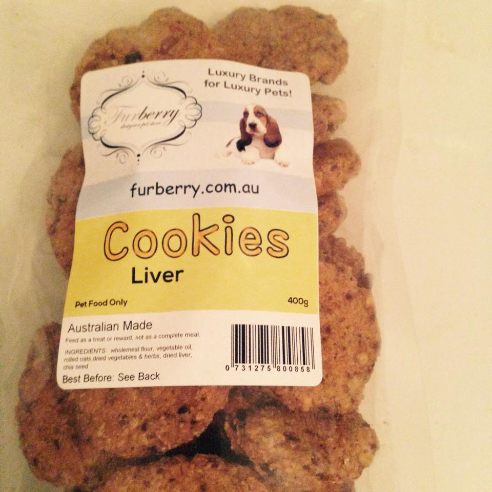 Furberry oven baked liver cookies furberry for Baked chicken liver recipes
