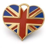Union Jack ID tag Gold