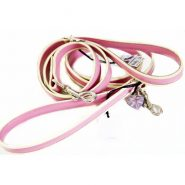 holly-and-lil-leather-bow-belle-pink-dog-lead-500x500
